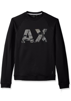 A|X Armani Exchange Men's Neoprene Sweatshirt with Ax Logo