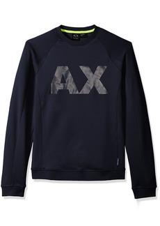 A X Armani Exchange Men's Neoprene Sweatshirt with Ax Logo
