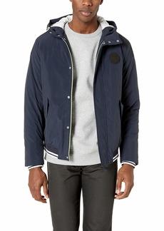 A|X Armani Exchange Men's Nylon Hooded Zip-up Jacket  XL