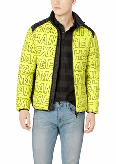 A|X Armani Exchange Men's Outdoor Down Jacket Limeade BS Medium Levitt S