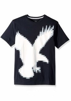 A|X Armani Exchange Men's Outline Eagle AX tee  XXL