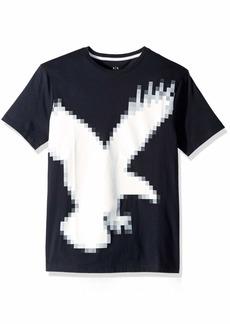 A|X Armani Exchange Men's Outline Eagle AX tee  XXL