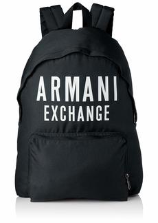 A X Armani Exchange Men's Oversized Logo Backpack black