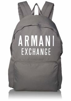 A|X Armani Exchange Men's Oversized Logo Backpack gray