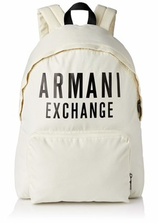 A|X Armani Exchange Men's Oversized Logo Backpack white