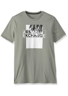 A|X Armani Exchange Men's Palm Leaf Logo tee  M