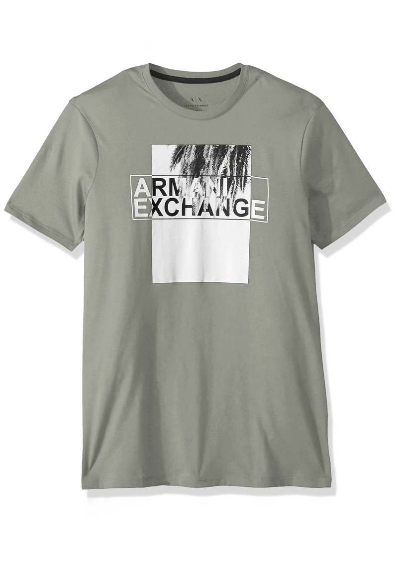 A|X Armani Exchange Men's Palm Leaf Logo tee  M