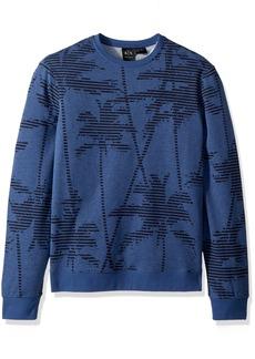 A|X Armani Exchange Men's Palm Tree Sweatshirt BS Bros B8224 W/Palm S