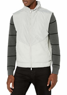 A|X Armani Exchange Men's Paneled Zip Up Polyester Vest  L