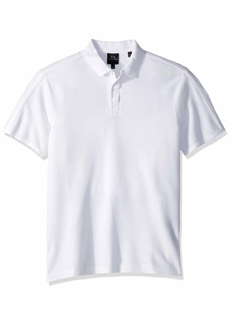 A|X Armani Exchange Men's Plain Short-Sleeve Polo Shirt  M