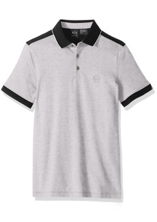 A|X Armani Exchange Men's Polo Shirt with Stripes  M