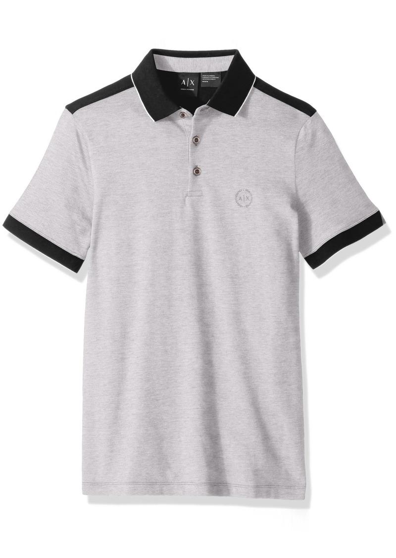A|X Armani Exchange Men's Polo Shirt with Stripes  M