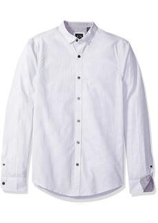 A|X Armani Exchange Men's Poplin Long Sleeve Button Up Woven