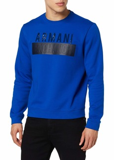A|X Armani Exchange Men's Pull On Sweatshirt with Big Logo  L