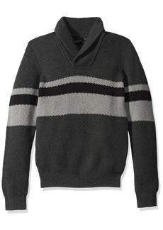 A|X Armani Exchange Men's Pullover Fantasy Stitch Stripe Sweater  L