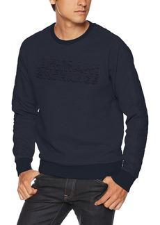 A|X Armani Exchange Men's Quilted Back Sweatshirt Navy M
