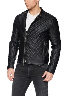 A|X Armani Exchange Men's Quilted Faux Leather Casual Jacket  XXL