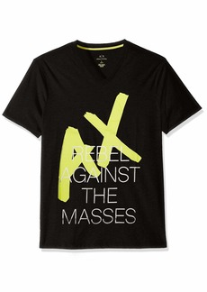 A|X Armani Exchange Men's Rebel Logo tee  XS