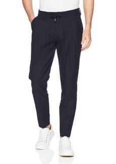 A X Armani Exchange Men's Relaxed Cotton Trouser Navy Check