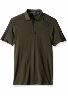 A|X Armani Exchange Men's Retro AX Polo peat XS