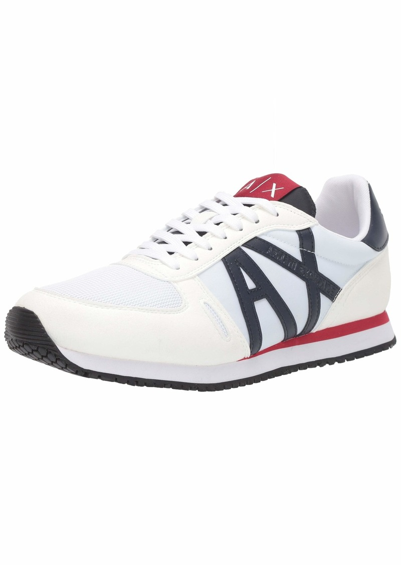 A X Armani Exchange Men's Retro Running Sneaker  M Medium US