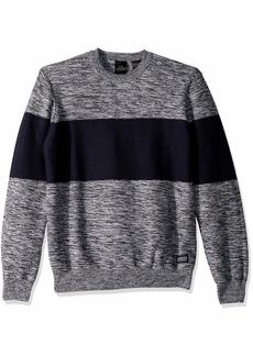 A|X Armani Exchange Men's Reverse Stitch Stripe Pullover Sweater White Navy S