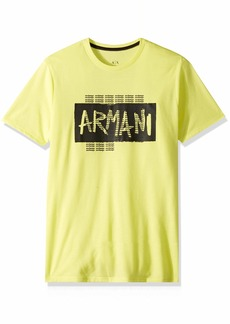 A|X Armani Exchange Men's Scratch Logo tee  XS