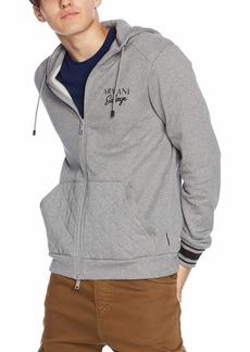 A|X Armani Exchange Men's Script Zip-Up Hoodie Sweatshirt  S