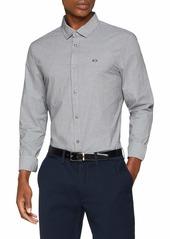 A|X Armani Exchange Men's Shirt Dobby dots White/Bleached a XXL