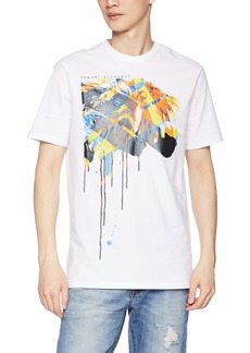 A|X Armani Exchange Men's Short Sleeve Abstract Graphic T-Shirt  Sm