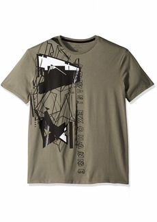 A|X Armani Exchange Men's Short Sleeve Abstract Graphic T-Shirt  Med