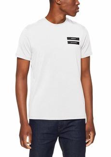 A|X Armani Exchange Men's Short-Sleeve AX Double Stripe T-Shirt  XXL