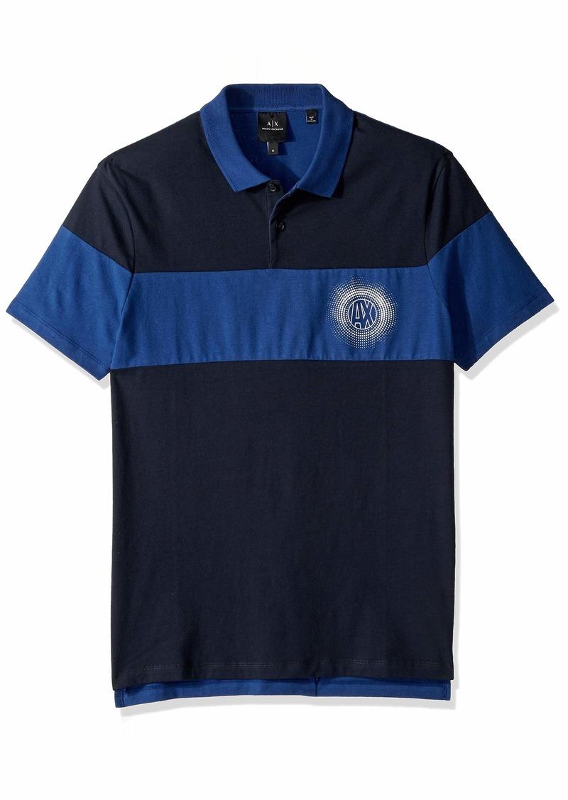 A|X Armani Exchange Men's Short-Sleeve AX Logo Polo Shirt  XL