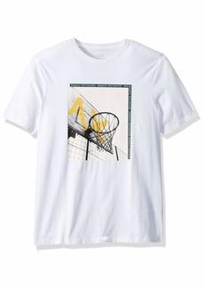 A X Armani Exchange Men's Short Sleeve Basketball Graphic T-Shirt  L
