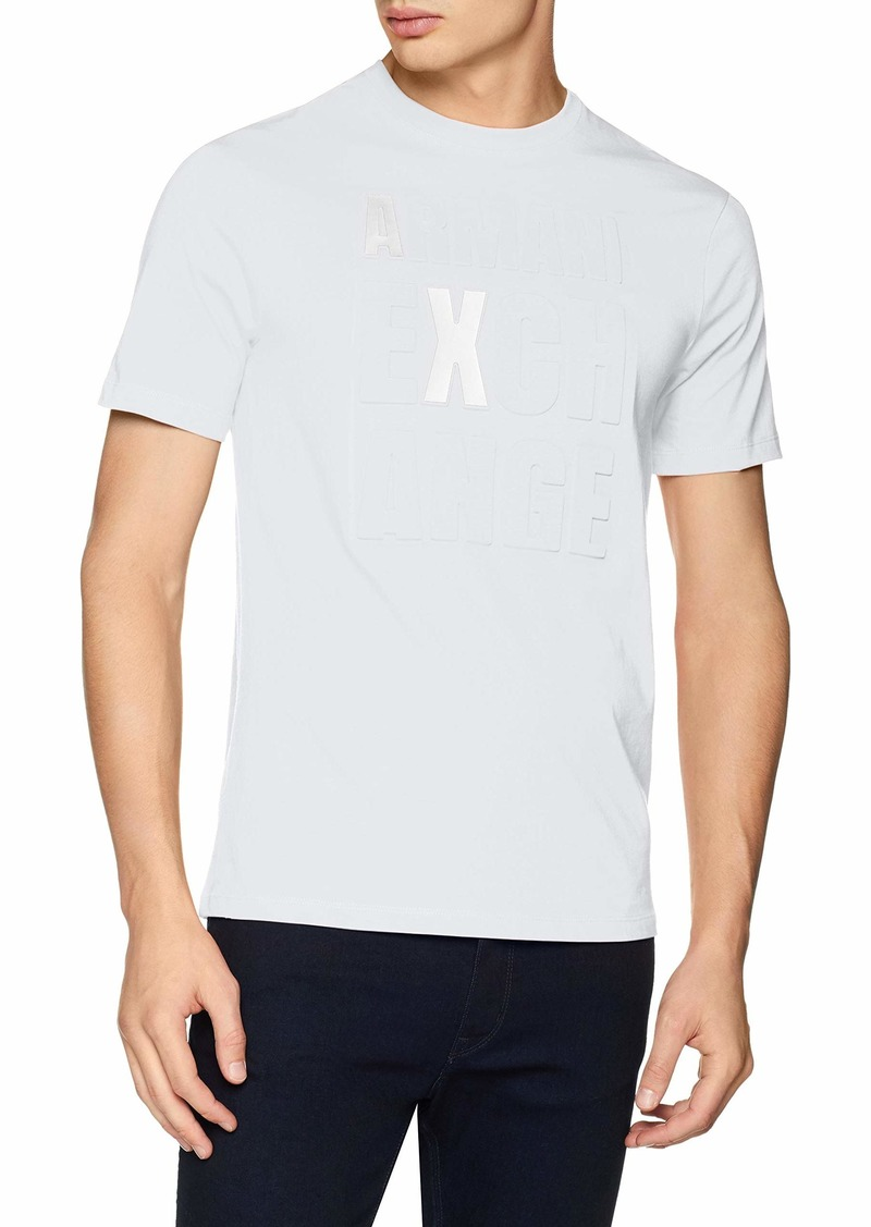 A|X Armani Exchange Men's Short Sleeve Crew Neck 3D Graphic T-Shirt  S