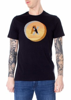 A|X Armani Exchange Men's Short Sleeve Crew Neck Circular Graphic T-Shirt  M