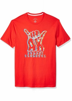 A|X Armani Exchange Men's Short Sleeve Crew Neck  Graphic Logo T-Shirt  L