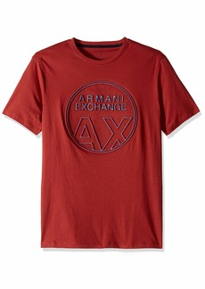 A|X Armani Exchange Men's Short Sleeve Crew Neck  Graphic Logo T-Shirt  L