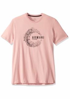 A|X Armani Exchange Men's Short Sleeve Crew Neck Graphic T-Shirt  XL