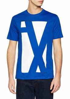 A|X Armani Exchange Men's Short Sleeve Crew Neck Large Graphic Logo T-Shirt  M