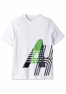A|X Armani Exchange Men's Short Sleeve Crew Neck Large Graphic Logo T-Shirt  S