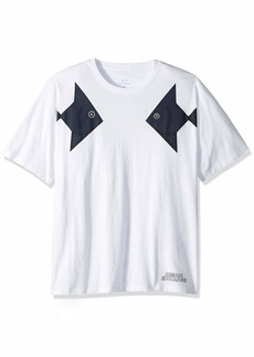 A|X Armani Exchange Men's Short Sleeve Crew Neck Large Graphic Logo T-Shirt  S