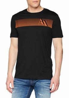 A|X Armani Exchange Men's Short Sleeve Crew Neck Logo T-Shirt  M