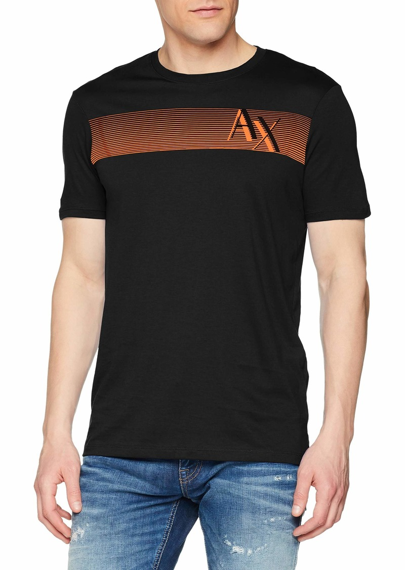 A|X Armani Exchange Men's Short Sleeve Crew Neck Logo T-Shirt  M
