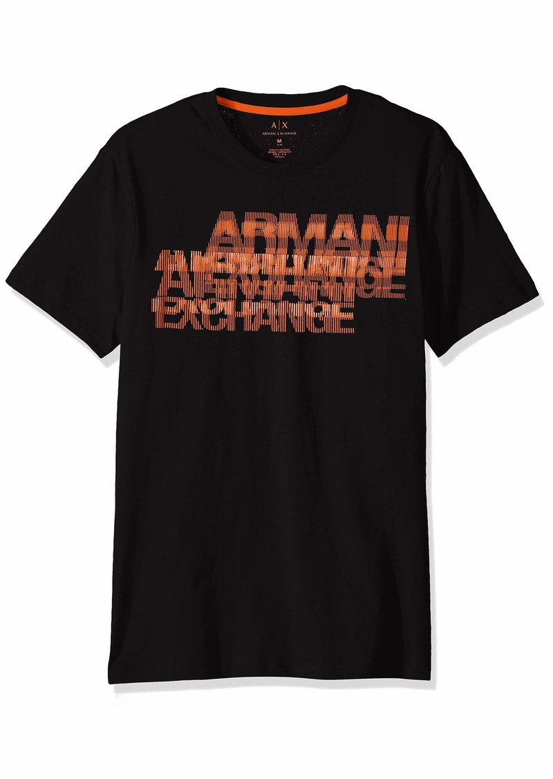 A|X Armani Exchange Men's Short Sleeve Crew Neck Logo T-Shirt  S