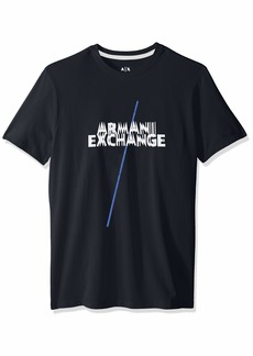 A|X Armani Exchange Men's Short Sleeve Crew Neck Logo T-Shirt  S