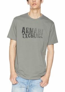 A|X Armani Exchange Men's Short Sleeve Crew Neck Logo T-Shirt  XL