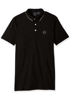 A X Armani Exchange Men's Short Sleeve Jersey Knit Polo  M