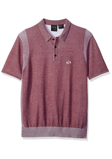 A|X Armani Exchange Men's Short Sleeve Logo Knit  S