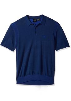 A|X Armani Exchange Men's Short Sleeve Logo Knit  S